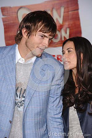 Ashton Kutcher,Demi Moore Editorial Photo