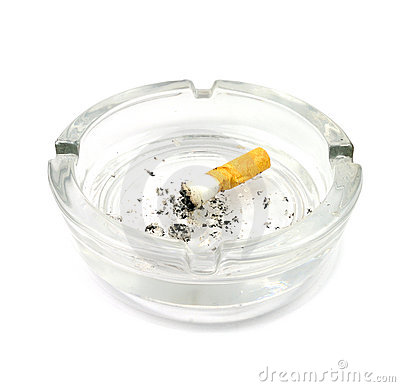 Ashtray and Cigarette Butts