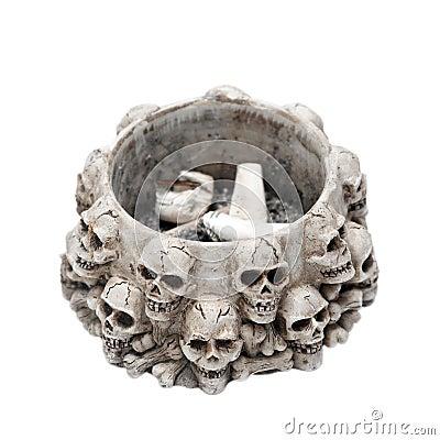 Ashtray made of skulls