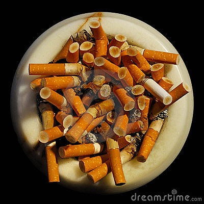 Free Ashtray With Cigarette Butts Royalty Free Stock Photography - 6730847