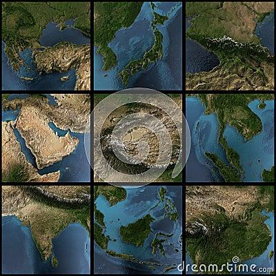 Asia 3d map set