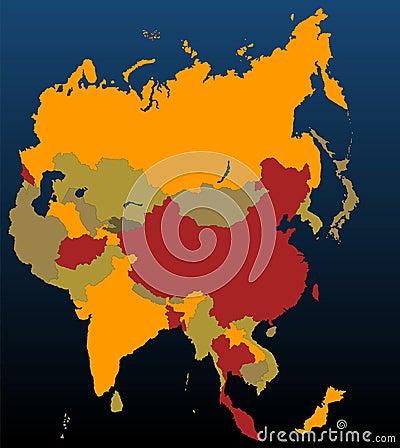 Asia (coloured)