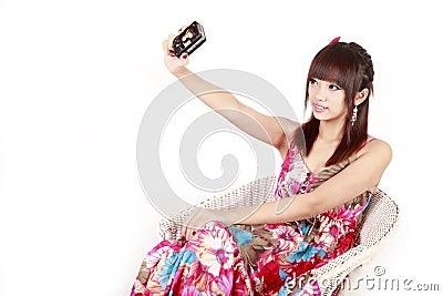 Asia fashion girl self shot