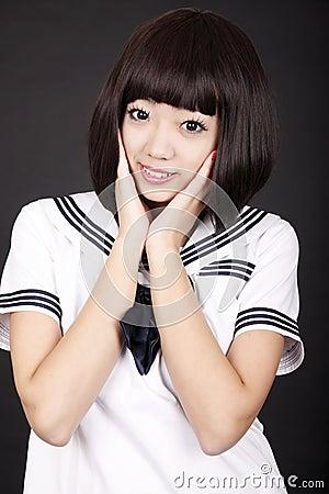 Asia female student