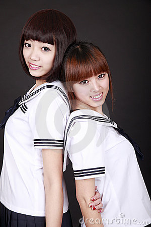 Asia female students