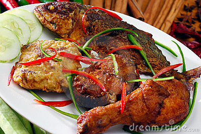 Asia food and grilled food