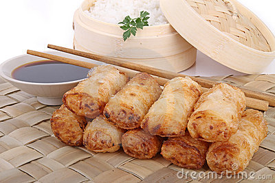 Asia food, spring roll