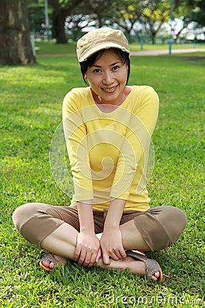 Asia Girl enjoying sunshine