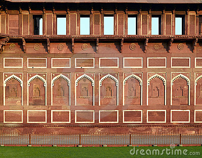 Asia India Agra red fort