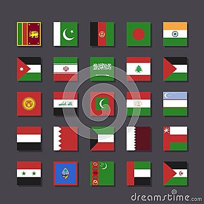 Free Asia Middle East Flag Icon Set Metro Style Royalty Free Stock Image - 30896126