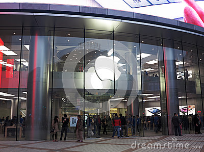 Asia s largest Apple Store,Beijing Editorial Stock Image