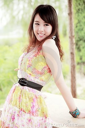 Asia summer girl
