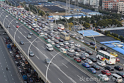Asia traffic jam Editorial Photo