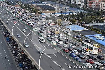 Asia traffic jam Editorial Photo
