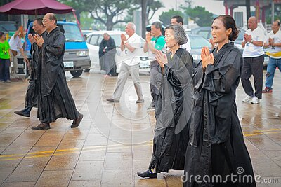 Asian Adults In Somber Parade Free Public Domain Cc0 Image