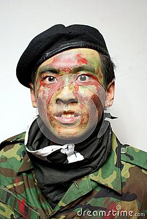 Asian army commando portrait