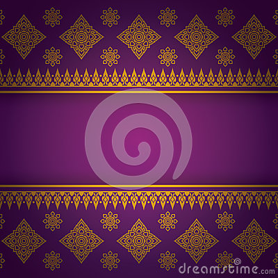 Free Asian Art Background, Thai Art Pattern Vector. Royalty Free Stock Photography - 41026917