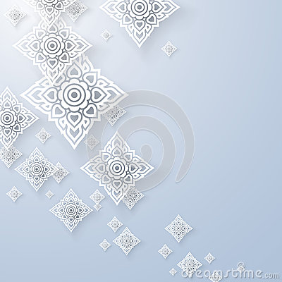 Free Asian Art Background, Thai Art Pattern Vector. Royalty Free Stock Photography - 41093977