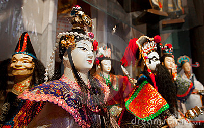 Asian art figure dolls