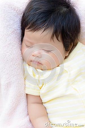 Asian baby  girl sleep