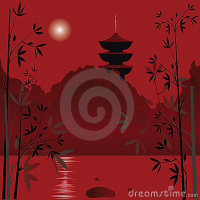 Asian background