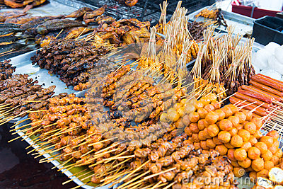 Asian barbecue food