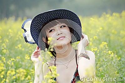 Asian beauty in rape field