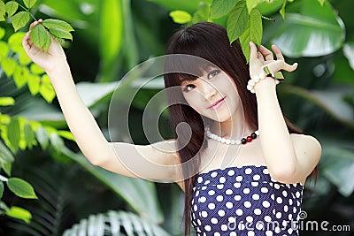 Asian beauty in summer