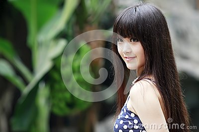 Asian beauty in summer