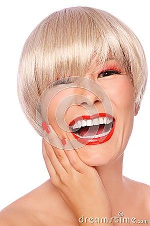 Asian blonde