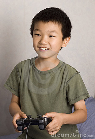 Asian Boy Gamer Stock Photo Image 1390310