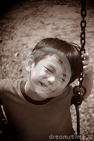 Free Asian Boy On A Swing Stock Images - 27570004