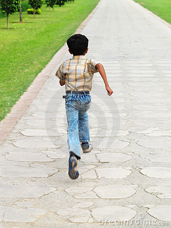 asian boy running royalty  stock images image