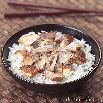 Asian braised pork rice