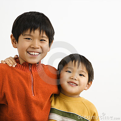 Free Asian Brothers Stock Photo - 4416120
