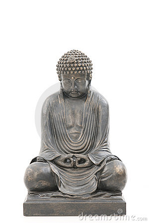 Asian buddha isolated on white background