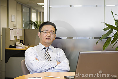 Asian business executive
