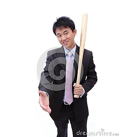 Asian Business man handshake