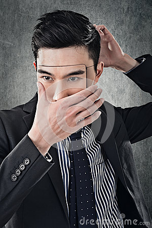 Free Asian Business Man In Mask Royalty Free Stock Photography - 42119267