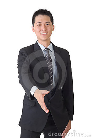 Asian business man shake hand