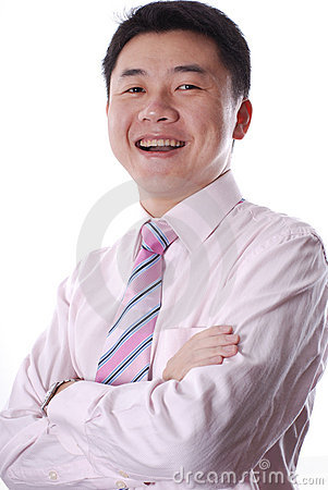 Asian business man smiling