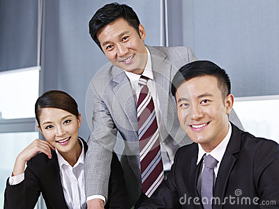 Asian business team