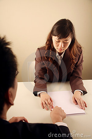 Asian businesswoman in a meeting