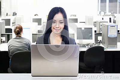 Asian businesswoman in office work place