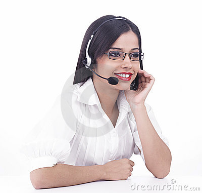 Asian call centre girl