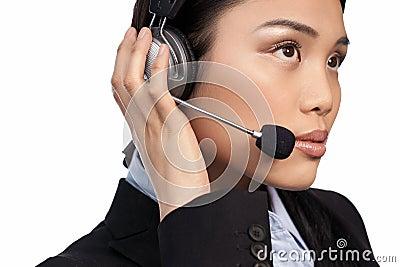 Asian call centre operator