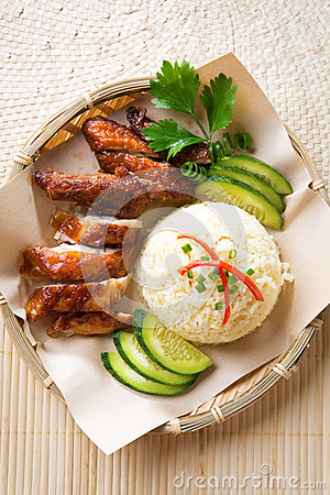 Asian chicken rice.