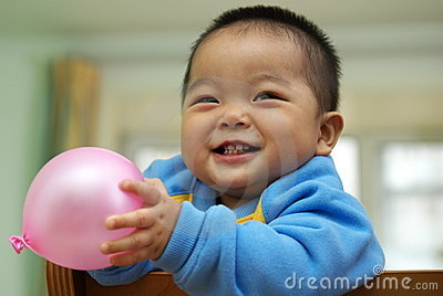 Asian child playing