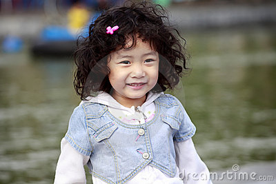 Asian children smiling