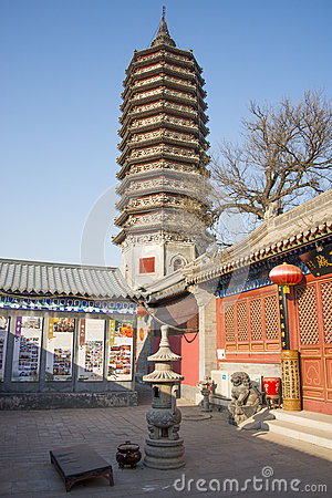 Free Asian Chinese, Beijing, Historic Buildings, A Buddhist Monastery, Tongzhou Sanjiao Temple Royalty Free Stock Photos - 47508788